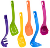 Cucharones Multicolor Nylon en Set de 6 Piezas Art+Cook
