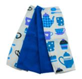 Toalla de Cocina Cups Azul en Set de 4 Piezas Casserina
