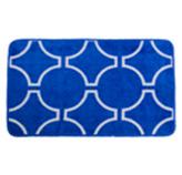 Alfombra con Diseño de Círculos Azules 45x70cm Casserina