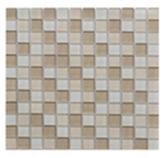 Mosaico de Cristal Mix   Beige Claro  30x30cm (.09)