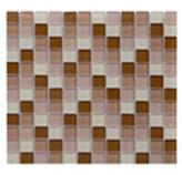 Mosaico de Cristal Mix  Café Oscuro  30x30cm (.09)