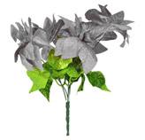Pick Flores Plateada  30cm