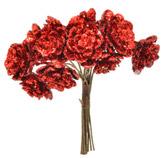 Pick Flores Rojas  9cm