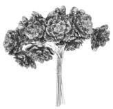 Pick Flores Plateadas 9cm