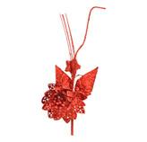 Pick Flor Roja  20cm