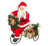 Adorno Navideño Santa en Triciclo