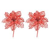 Pick Flor Set 2  Piezas  Rojo