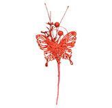 Pick Mariposa Navideña Roja 23cm