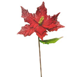 Rama Flor Navideña Roja  58cm
