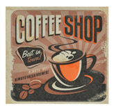 Servilleta de Papel Coffee Shop 25x25cm 20 Unidades
