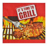 Servilleta de Papel It´s Time to Grill 33x33cm 20 Unidades