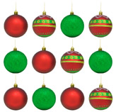 Bola Navideña en Set de 12 Piezas Christmas Traditions