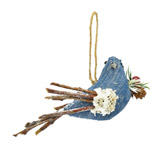 Pájaro Navideño Colgante Vintage Xmas