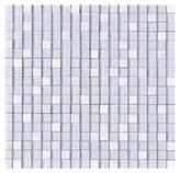 Mosaico de Cristal Marmol Mix Blanco 4mm 30x30cm