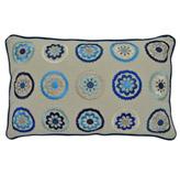 Cojín Flores Azul 50x30cm
