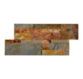 Piedra Interlock  Oxido Rojo 18x35cm