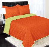 Edredón Reversible Naranja con Verde