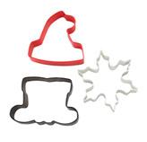 Cortador de Galletas Santa en Set de 3 Piezas  Wilton