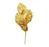 Rama Navideña Magnolia  Dorado  41cm