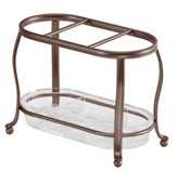 Organizador Bronce York Transparente Interdesign