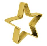 Adorno Estrella Oro de Aluminio