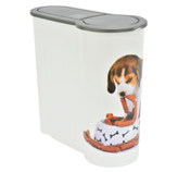 Recipiente Plástico para Almacenar Comida de Mascota de 4 Litros