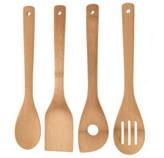 Utensilios de Cocina de Bambú en Set de 4 Piezas
