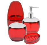 Accesorios para Baño Spoom Rojo Coza