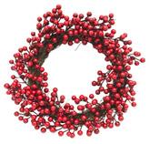 Corona Navideña  Cerezos Rojos  40cm