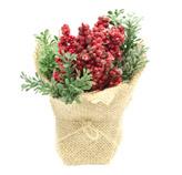 Macetero Cerezos Rojos con Hojas 14cm
