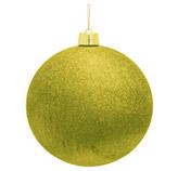 Bola Navideña Oro Escarchado de 30cm