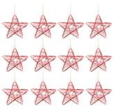 Estrella Colgante Set de 12 Piezas  Rojo