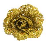 Rosa Decorativa Oro  Escarchada