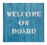 Servilleta de Papel  Welcome On Board 33x33cm 20 Unidades