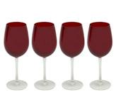 Copa de Vino Rojo Transparente 4 Piezas Santini