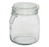 Envase de Vidrio con Tapa Hermética de 1 Litro
