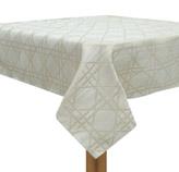Mantel Beige con Diseño de Rayas