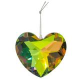 Corazón Colgante de Cristal Xmas Teal