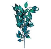 Rama con Hojas Azules 48cm