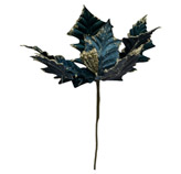 Flor  Ponsetia   Azul