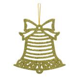 Campana Colgante Escarchada Oro