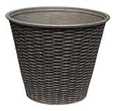 Macetero Basket  Gris    Negro