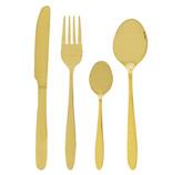 Cubiertos  Acero Inoxidable Oro 16 Piezas Excellent Houseware