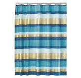Cortina para Baño Painted Azul Dorado Interdesign