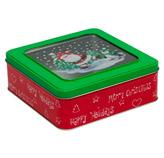 Caja de Lata con Diseño Navideño
