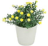 Maceta   con   Flores Artificiales