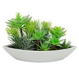 Maceta  con   Planta   Artificiales