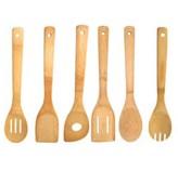 Utensilios de Cocina de Bambú en Set de 6 Piezas