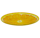 Plato de Vidrio con Diseño  de Naranja