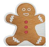 Servilleta de Papel Navideña Gingerbread 33x33cm 20 Unidades